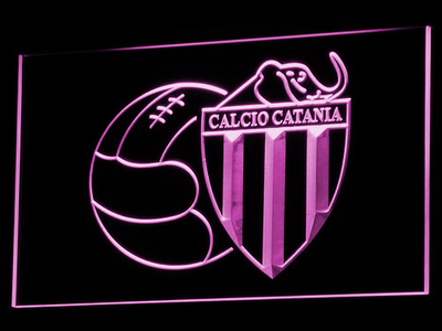 Calcio Catania LED Neon Sign - Purple - SafeSpecial