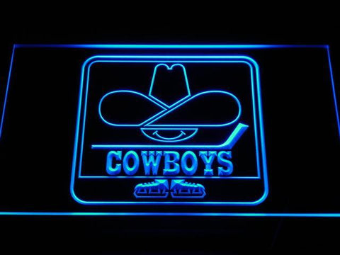 Calgary Cowboys LED Neon Sign - Legacy Edition - Blue - SafeSpecial