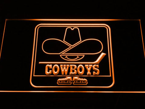 Calgary Cowboys LED Neon Sign - Legacy Edition - Orange - SafeSpecial