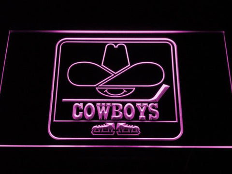 Calgary Cowboys LED Neon Sign - Legacy Edition - Purple - SafeSpecial