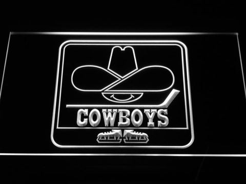 Calgary Cowboys LED Neon Sign - Legacy Edition - White - SafeSpecial