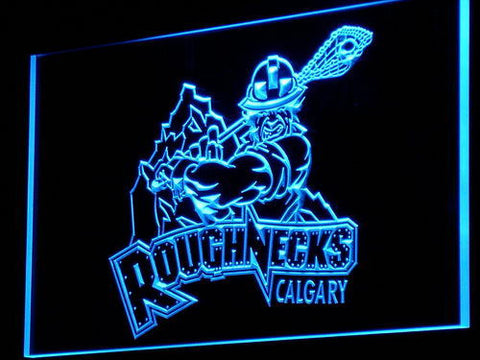 Calgary Roughnecks LED Neon Sign - Blue - SafeSpecial