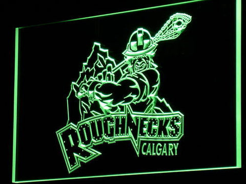 Calgary Roughnecks LED Neon Sign - Green - SafeSpecial