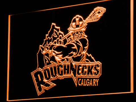 Calgary Roughnecks LED Neon Sign - Orange - SafeSpecial