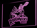Calgary Roughnecks LED Neon Sign - Purple - SafeSpecial