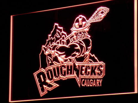 Calgary Roughnecks LED Neon Sign - Red - SafeSpecial