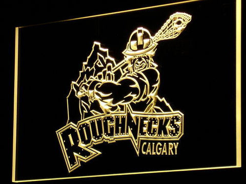 Calgary Roughnecks LED Neon Sign - Yellow - SafeSpecial