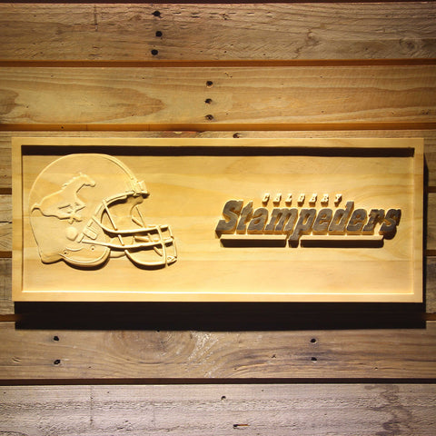 Calgary Stampeders Helmet Wooden Sign - Small - SafeSpecial