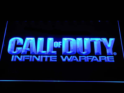 Call of Duty Infinite Warfare LED Neon Sign - Blue - SafeSpecial