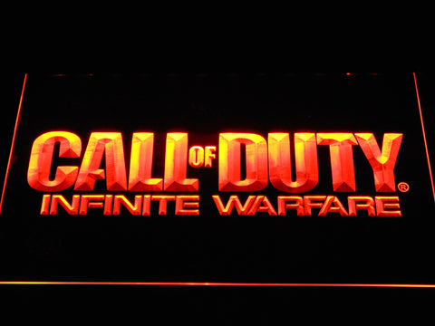Call of Duty Infinite Warfare LED Neon Sign - Orange - SafeSpecial