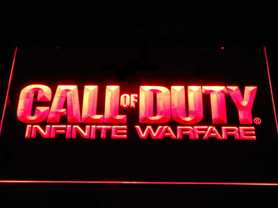 Call of Duty Infinite Warfare LED Neon Sign - Red - SafeSpecial