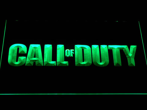 Image of Call of Duty LED Neon Sign - Green - SafeSpecial