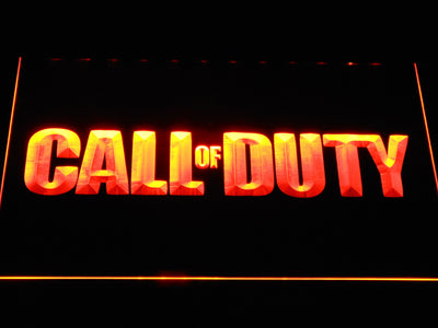 Call of Duty LED Neon Sign - Orange - SafeSpecial