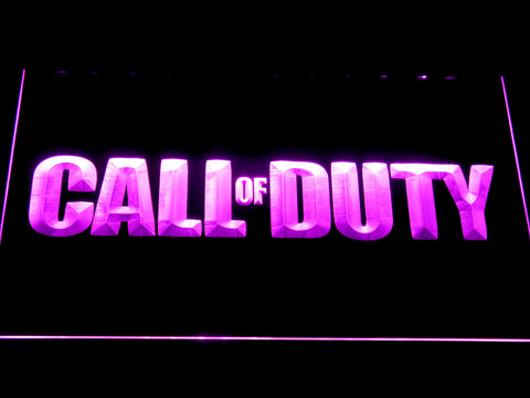 Image of Call of Duty LED Neon Sign - Purple - SafeSpecial