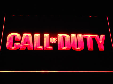 Image of Call of Duty LED Neon Sign - Red - SafeSpecial