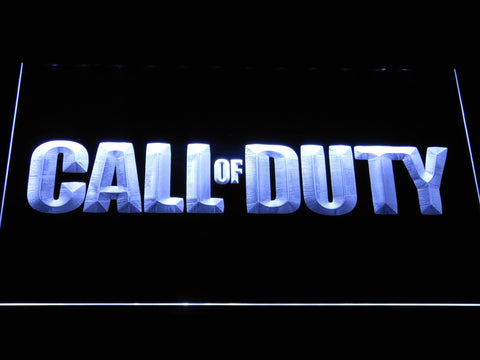 Image of Call of Duty LED Neon Sign - White - SafeSpecial