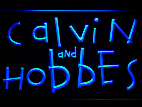 Calvin and Hobbes LED Neon Sign - Blue - SafeSpecial