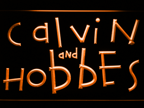 Image of Calvin and Hobbes LED Neon Sign - Orange - SafeSpecial