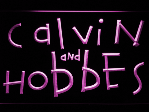 Calvin and Hobbes LED Neon Sign - Purple - SafeSpecial
