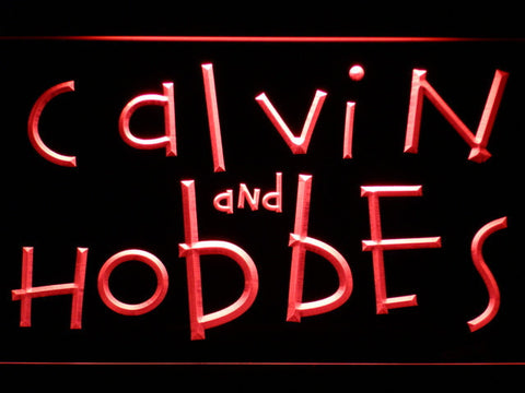 Calvin and Hobbes LED Neon Sign - Red - SafeSpecial