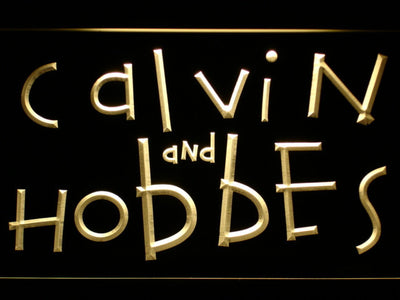 Calvin and Hobbes LED Neon Sign - Yellow - SafeSpecial