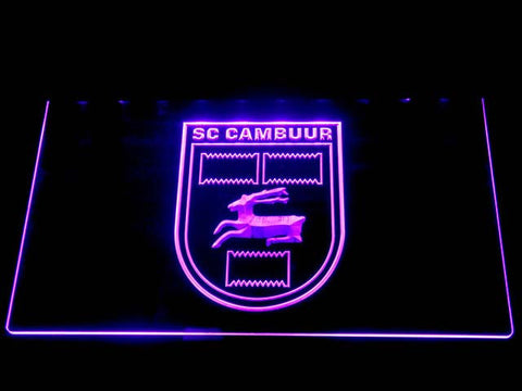 Cambuur LED Neon Sign - Purple - SafeSpecial