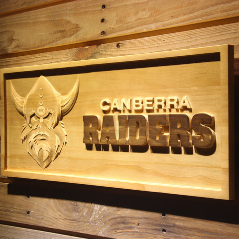 Canbera Raiders Wooden Sign - - SafeSpecial