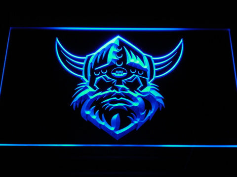 Image of Canberra Raiders Head LED Neon Sign - Blue - SafeSpecial