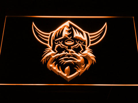 Image of Canberra Raiders Head LED Neon Sign - Orange - SafeSpecial