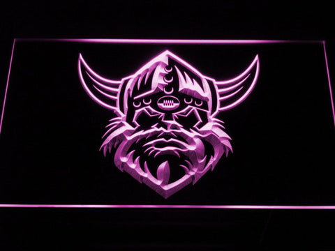 Canberra Raiders Head LED Neon Sign - Purple - SafeSpecial