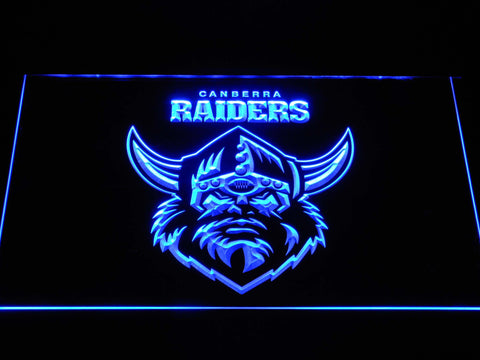 Canberra Raiders LED Neon Sign - Blue - SafeSpecial