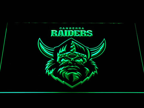 Image of Canberra Raiders LED Neon Sign - Green - SafeSpecial