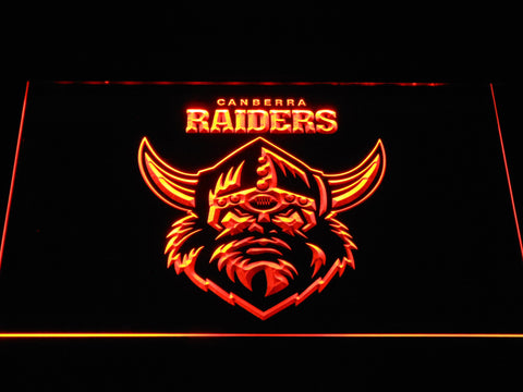 Canberra Raiders LED Neon Sign - Orange - SafeSpecial