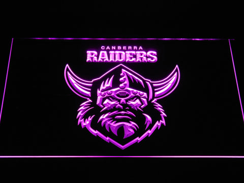 Canberra Raiders LED Neon Sign - Purple - SafeSpecial