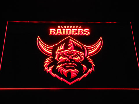 Image of Canberra Raiders LED Neon Sign - Red - SafeSpecial