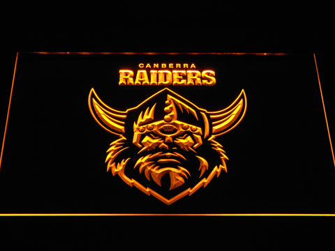 Canberra Raiders LED Neon Sign - Yellow - SafeSpecial