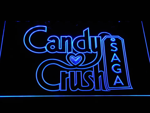Candy Crush Saga LED Neon Sign - Blue - SafeSpecial