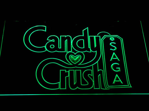 Candy Crush Saga LED Neon Sign - Green - SafeSpecial