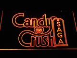 Candy Crush Saga LED Neon Sign - Orange - SafeSpecial