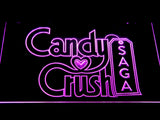 Candy Crush Saga LED Neon Sign - Purple - SafeSpecial