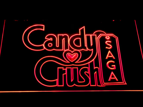 Candy Crush Saga LED Neon Sign - Red - SafeSpecial