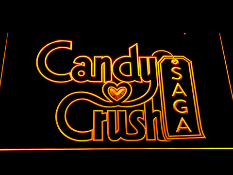 Candy Crush Saga LED Neon Sign - Yellow - SafeSpecial