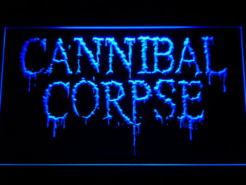 Cannibal Corpse LED Neon Sign - Blue - SafeSpecial