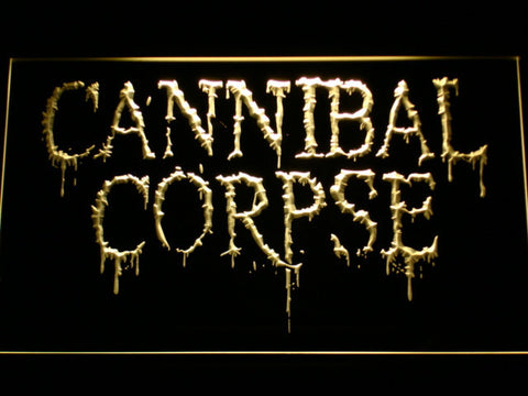 Cannibal Corpse LED Neon Sign - Yellow - SafeSpecial