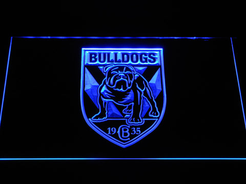 Image of Canterbury-Bankstown Bulldogs LED Neon Sign - Blue - SafeSpecial