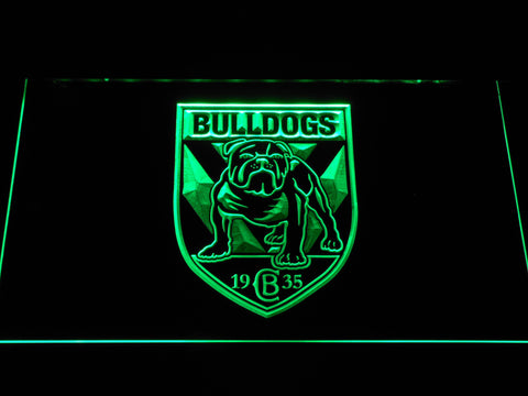 Image of Canterbury-Bankstown Bulldogs LED Neon Sign - Green - SafeSpecial