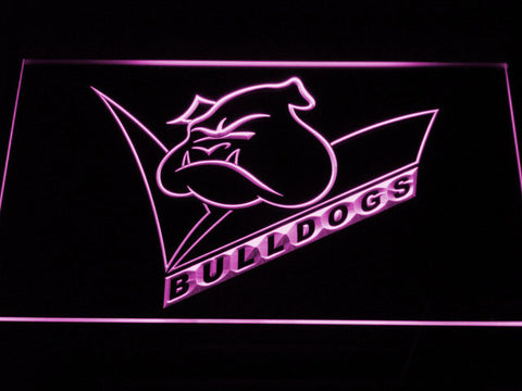 Canterbury-Bankstown Bulldogs LED Neon Sign - Legacy Edition - Purple - SafeSpecial