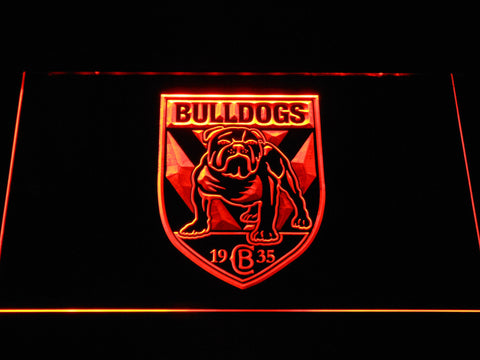Canterbury-Bankstown Bulldogs LED Neon Sign - Orange - SafeSpecial