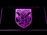 Canterbury-Bankstown Bulldogs LED Neon Sign - Purple - SafeSpecial