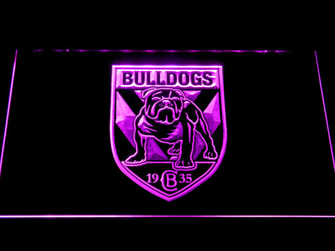 Image of Canterbury-Bankstown Bulldogs LED Neon Sign - Purple - SafeSpecial